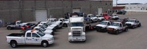 Double L Towing Fleet for corporate towing accounts